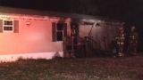 Firefighters battle trailer fire in northern Columbia