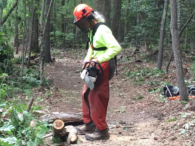 """He's a great example of someone being physically active while also being socially engaged and connected to nature,"" said Rebecca Chaplin, Associate State Director of Community Outreach and Advocacy for AARP.  (Photo credit: WLOS staff)"