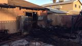 Two displaced, one injured after patio fire near Lake Mead and Torrey Pines