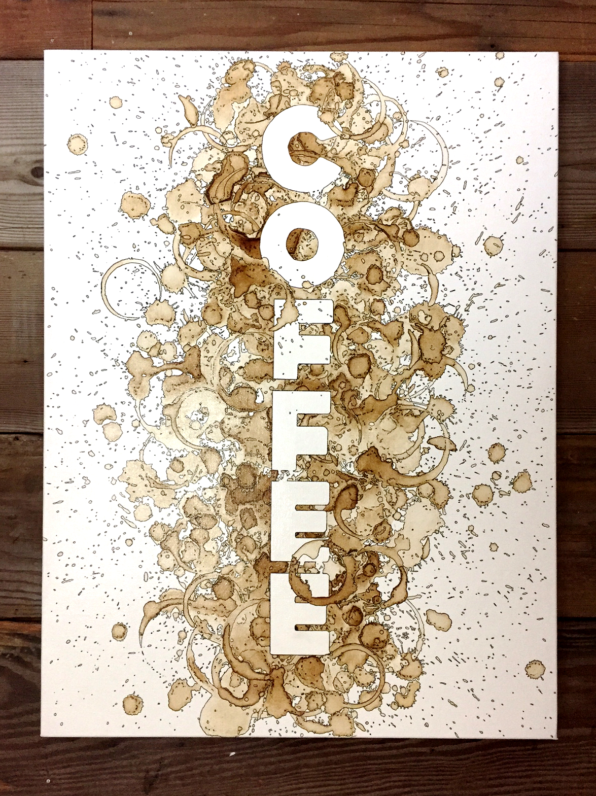 Jon Norquist is a Major in the Army, a father of five, an engineer and a coffee artist. He creates his amazing work one splatter and spill at a time from his home near Tacoma. Jon's business, aptly titled Coffee on Canvas, has been growing by leaps and bounds including his original art, and work for corporate clients. Image: Coffee on Canvas