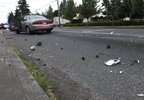 Police vehicle damaged in hit-and-run in Portland -KATU photo by reporter Jason Nguyen 1.jpg