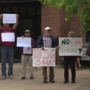 Ashland residents protesting 5G tower installation
