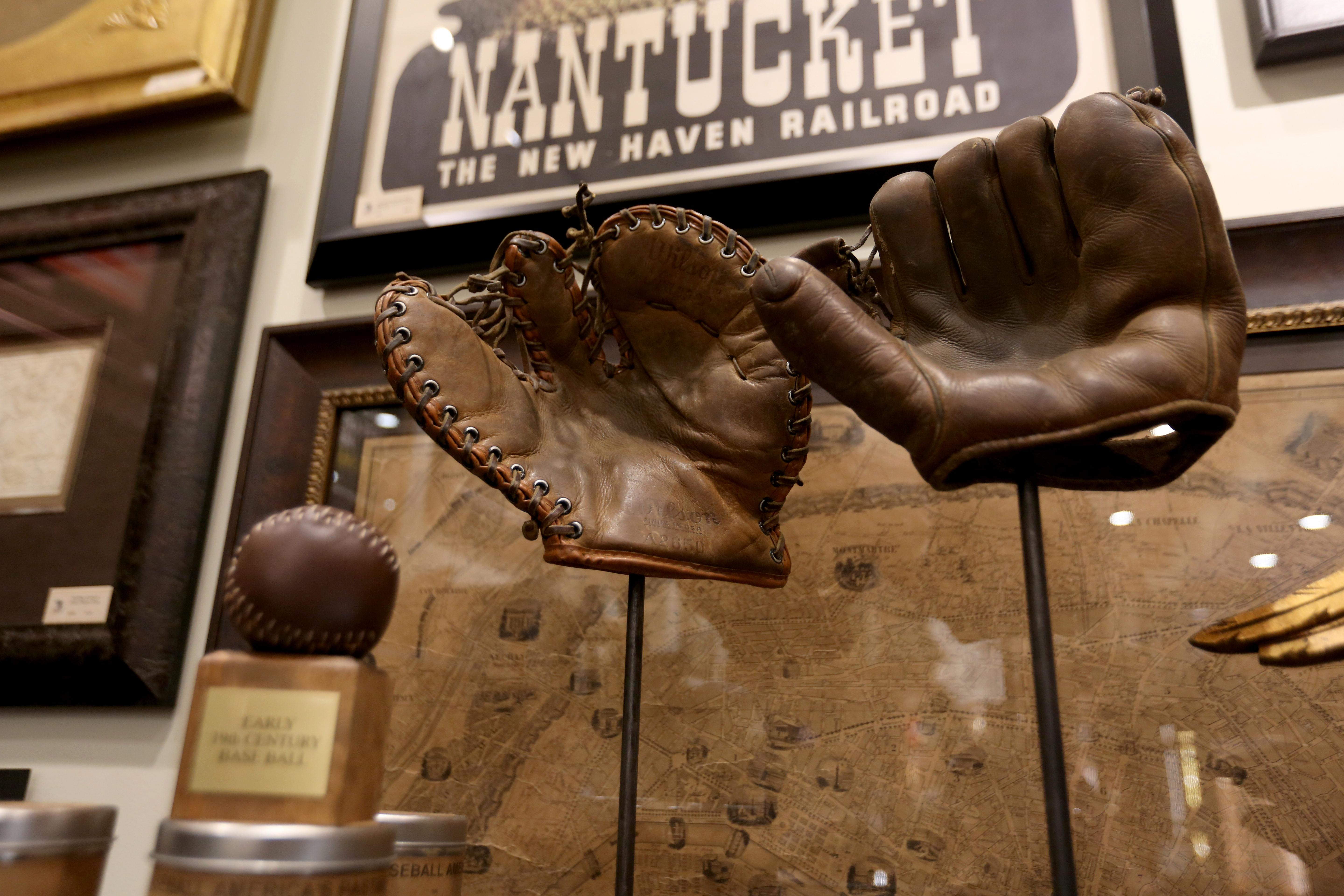 Vintage baseball mitt - $395, available at The Great Republic. (Amanda Andrade-Rhoades/DC Refined)