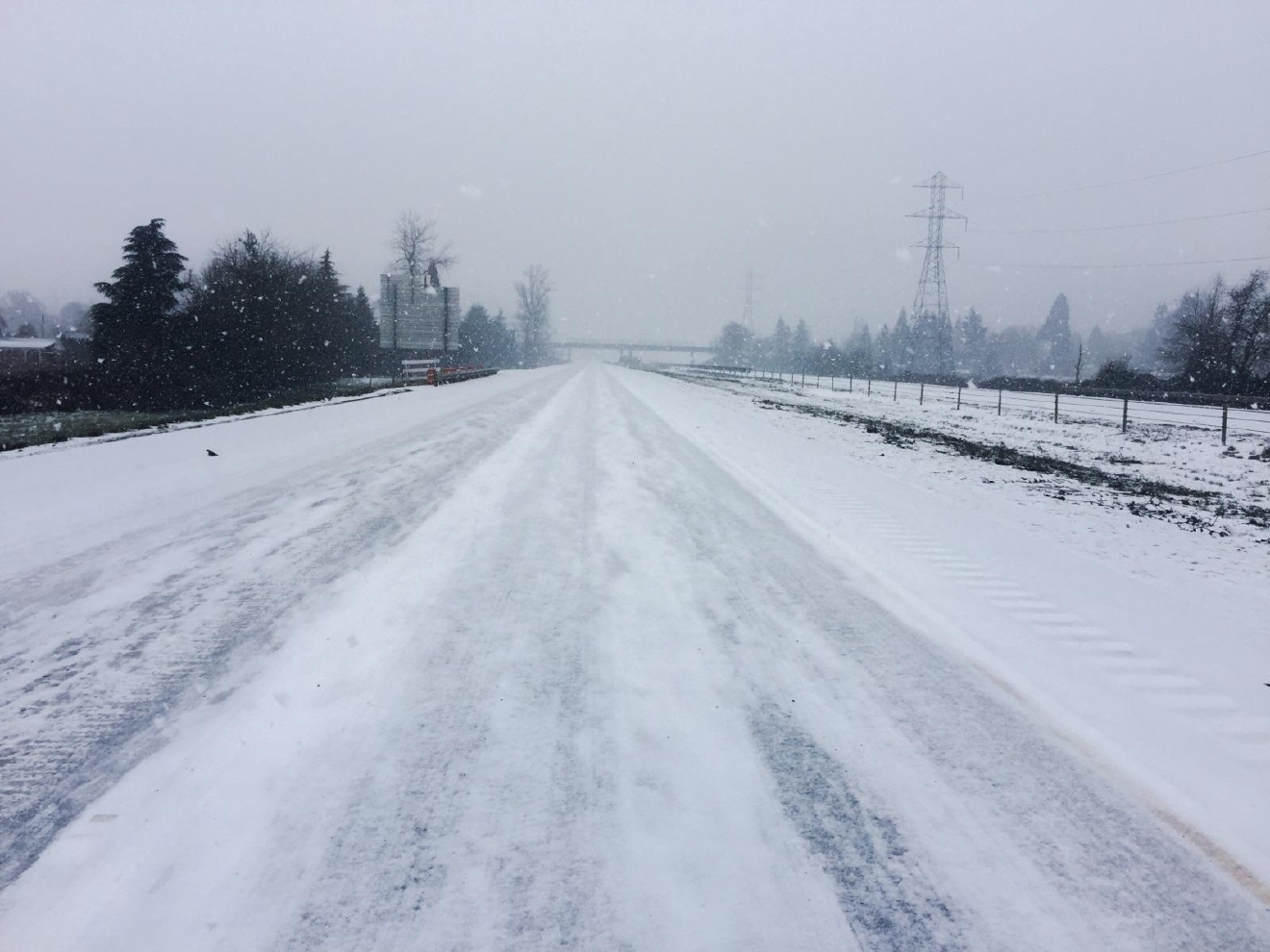Oregon State Police photo of I-5 on January 7, 2017.