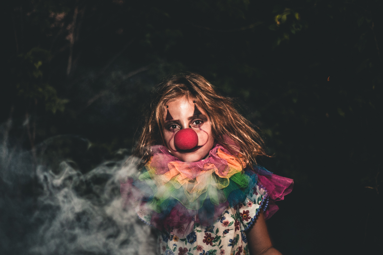 Lilly as a clown / Image: Catherine Viox // Published: 10.14.17