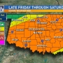 Severe storms to bring possibility of heavy rain, flooding overnight