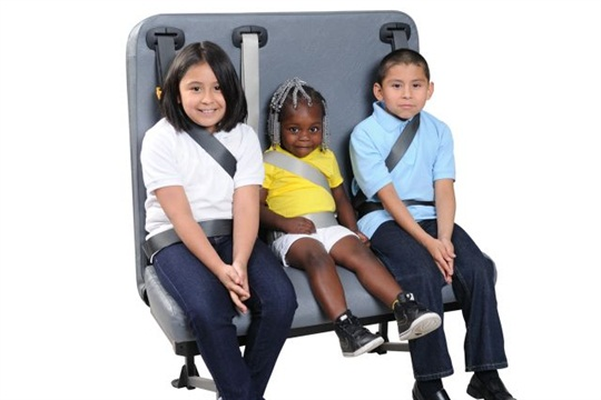This SynTec S3C seating solution is one of the options being installed in North Carolina public school buses. (Photo credit: SynTec Seating Solutions, www.syntecseating.com.)
