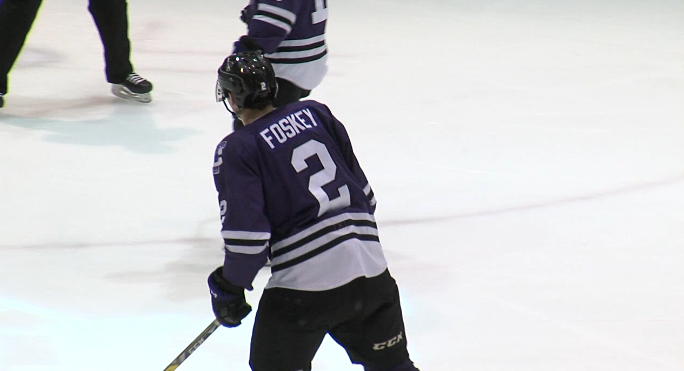 Jace Foskey skates around the ice during a game with the Tri-City Storm. (NTV News)