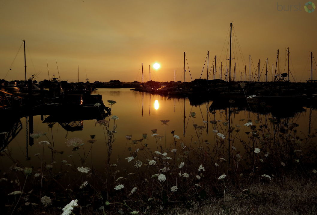 Debbie Tegtmeier shared this photo of a smoky Sunday sunset as seen from Winchester Bay, Oregon, via BURST.com/KVAL