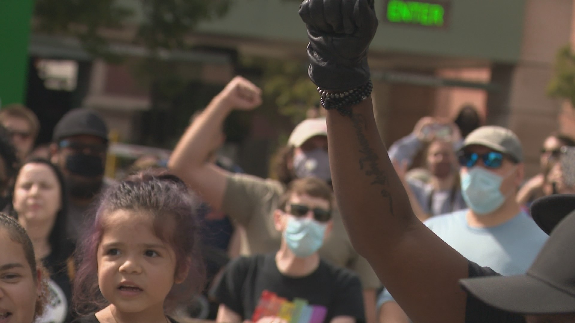 Protesters held two separate events in Grand Rapids June 3, 2020, where one was silent and the other was vocal.{ }(WWMT/Jason Heeres)
