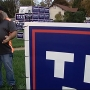 Battle Creek man says Trump yard signs were vandalized two nights in a row