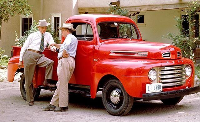 "Ford's first post-war truck came out in 1948, a year before Ford's first post-war car. That tells you something about the importance of trucks, even then. This truck also marked the beginning of the ""F-series."" Depending on their size and cargo capacity,"