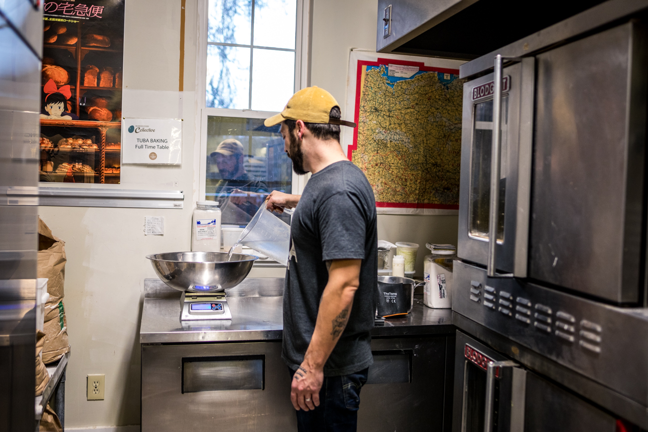 Owner Drew Rath prepping another batch of dough / Image: Catherine Viox{ }// Published: 12.17.19