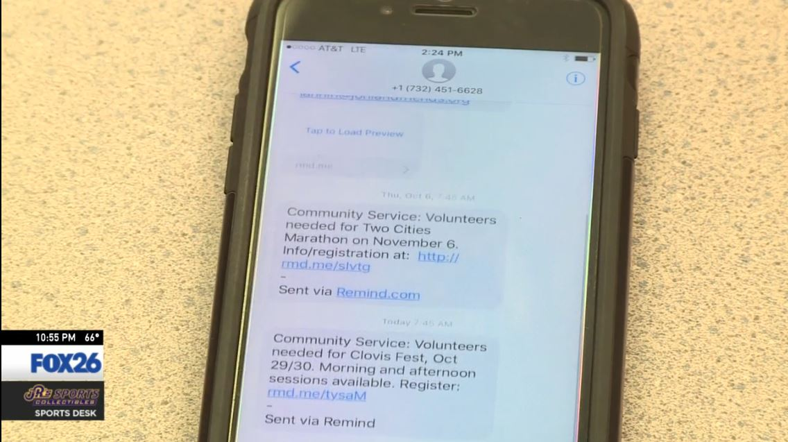 There are three service clubs at Clovis and when any of them find a volunteer opportunity, the information gets sent out in a text message to all students