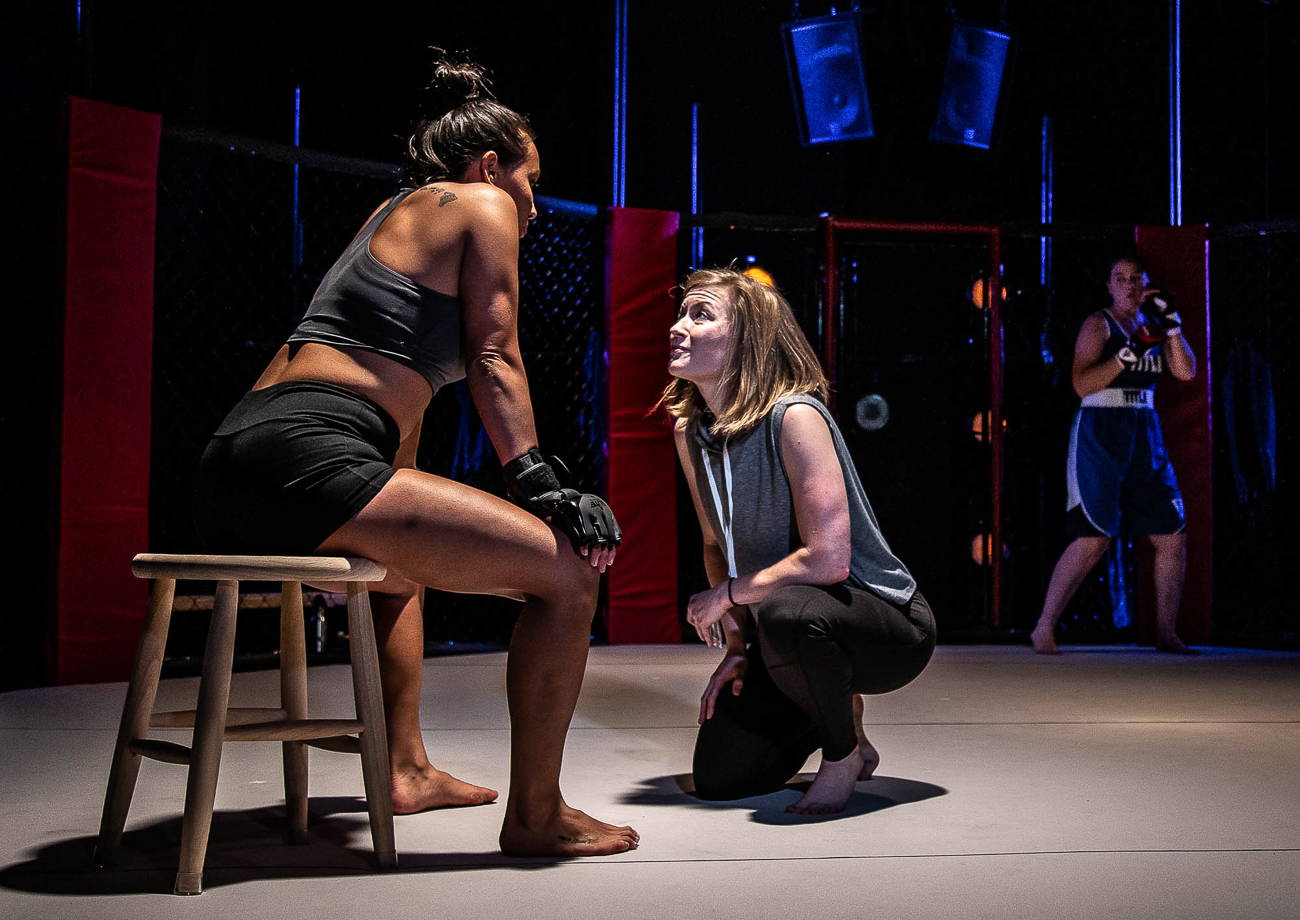 Abi Esmena, Tess Talbot, and Jennifer Joplin / Girl in the Red Corner by Stephen Spotswood plays every Wednesday through Sunday from July 26 to August 17 at Know Theatre in Over-the-Rhine. ADDRESS: 1120 Jackson Street (45202) / Image: Daniel Winters Photography // Published: 7.31.19