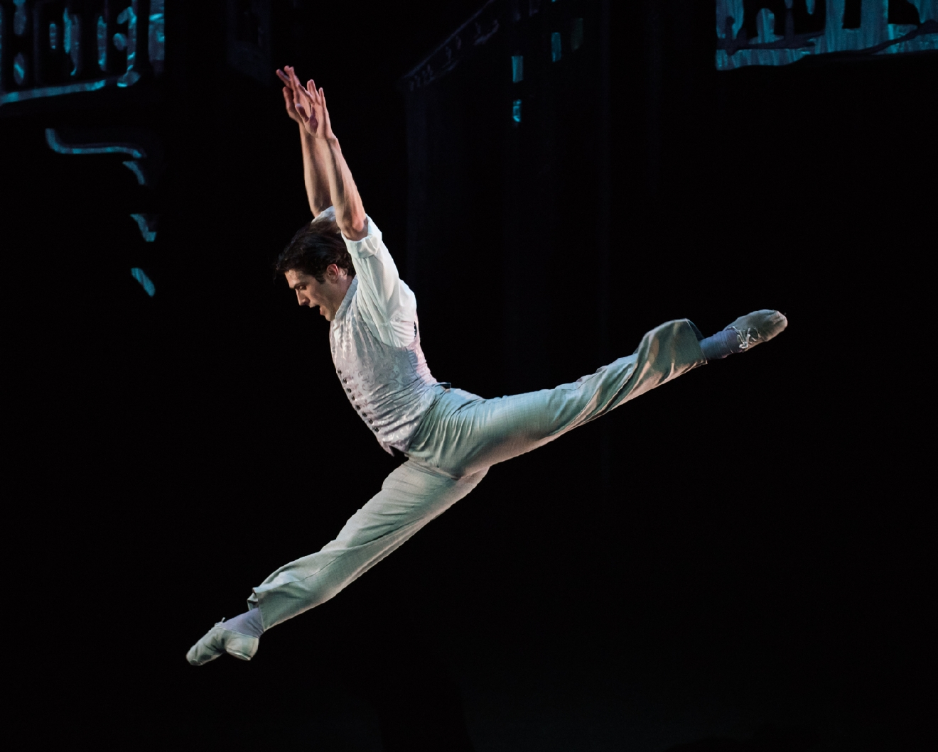 "Patric Palkens, performing in ""Who Cares"" (part of Cincinnati Ballet's production of ""Wild Sweet Love"") / Image: Peter Mueller"