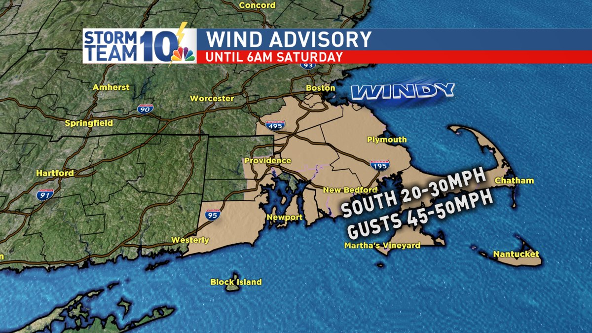 Gusty wind and fog are also factors. Minor tree damage, along with isolated power outages, are possible. (WJAR)<p></p>