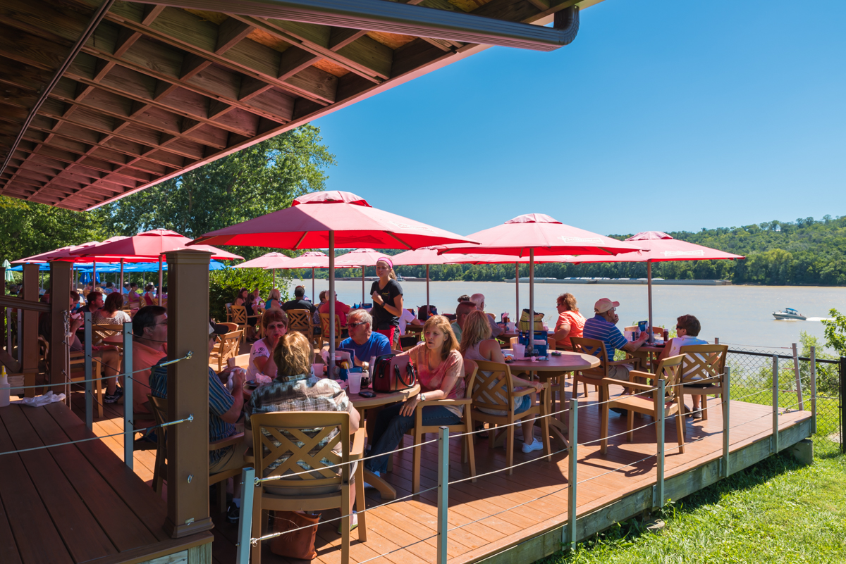 Cabana on the River is a casual, outdoor restaurant on the westside of Cincinnati. The cabana is designed to resemble a tropical atmosphere and sports a prime view of the setting sun on clear nights. Additionally, they're well-known for their Long Island Iced Tea, and the bar features live music every weekend. ADDRESS: 7445 Forbes Rd. (45233) / Image: Sherry Hopkins // Published: 8.19.17