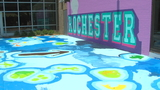 Massive mural brings a touch of history to Rochester school