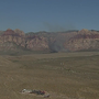 Brush fire burns near Red Rock Canyon west of Las Vegas