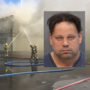Police: Man drove 18-wheeler around road block, over fire hose during Shooter's Depot fire