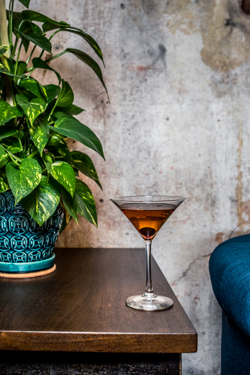 The Fix Manhattan: rye whiskey, sweet vermouth, benedictine, and bitters / Image: Catherine Viox{ }// Published: 7.18.20