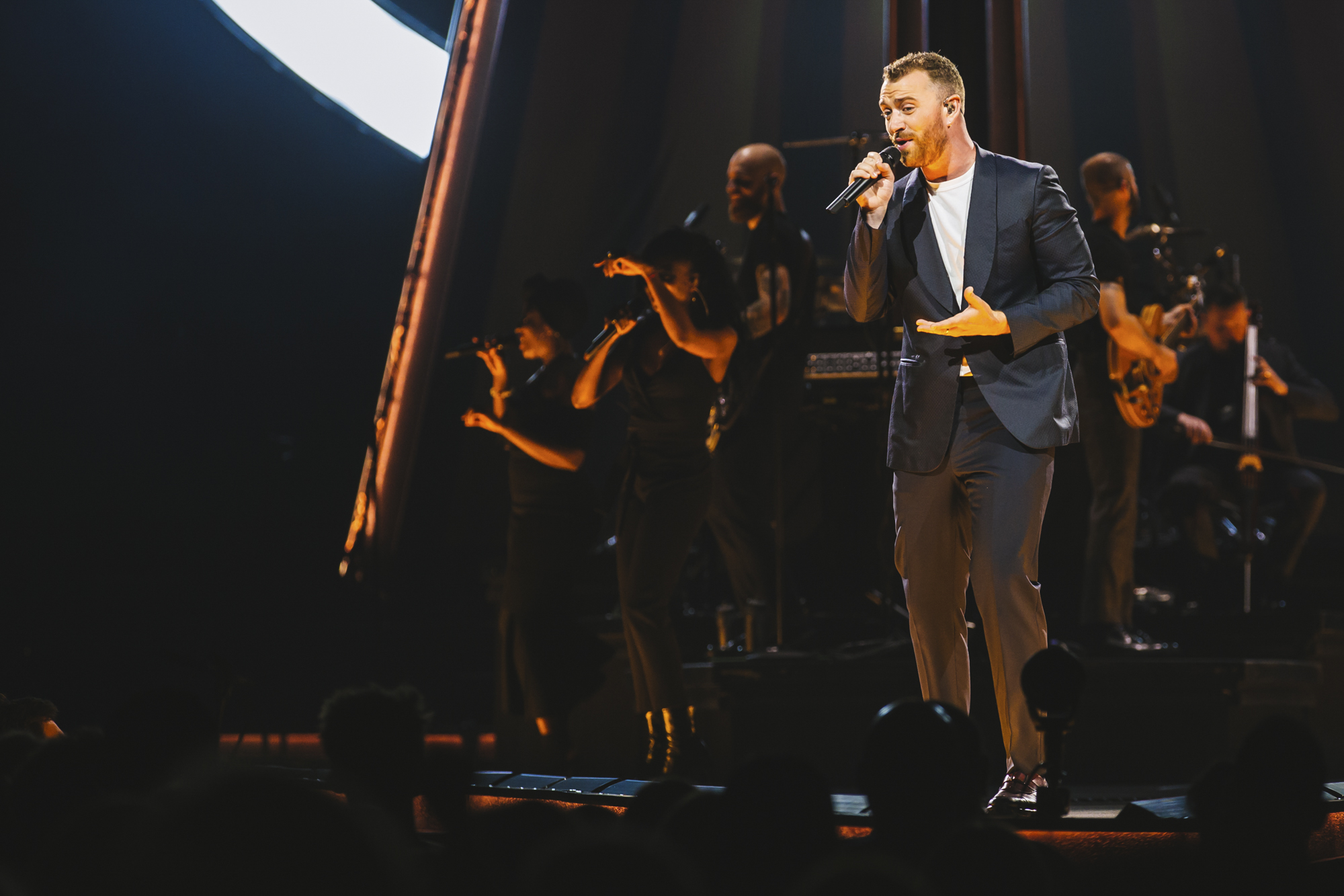 "Is it just me, or can Sam Smith croon like NO ONE ELSE?! The incredible talent packed KeyArena tonight for his ""The Thrill of It All"" tour. (Image: Sunita Martini / Seattle Refined){ }"