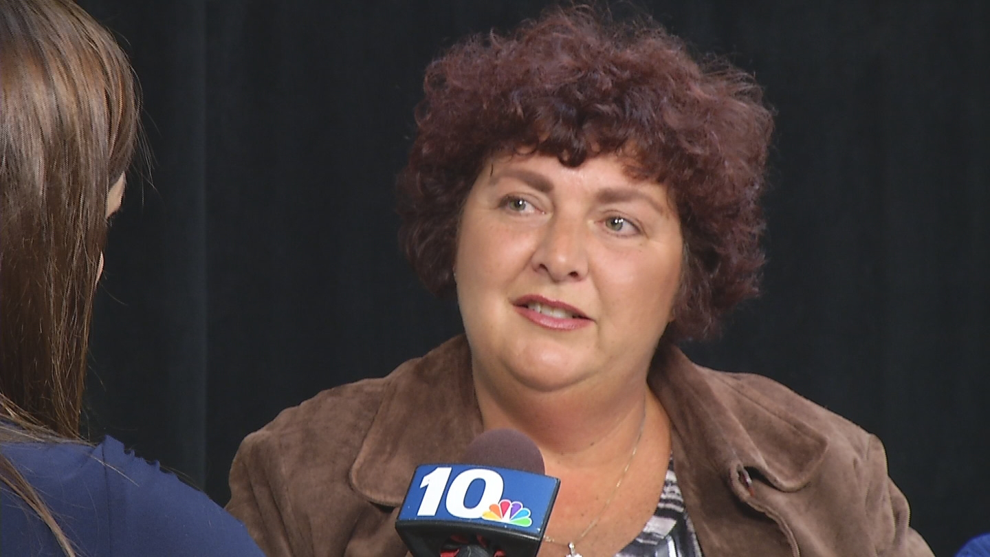 Robin Rongione Heim, a cancer survivor, says she and others in her group want answers and are asking others with cancer diagnosis to contact them. (WJAR photo)<p></p>