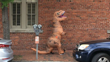 Police: Person in dinosaur costume spooks carriage horses, carriage driver injured