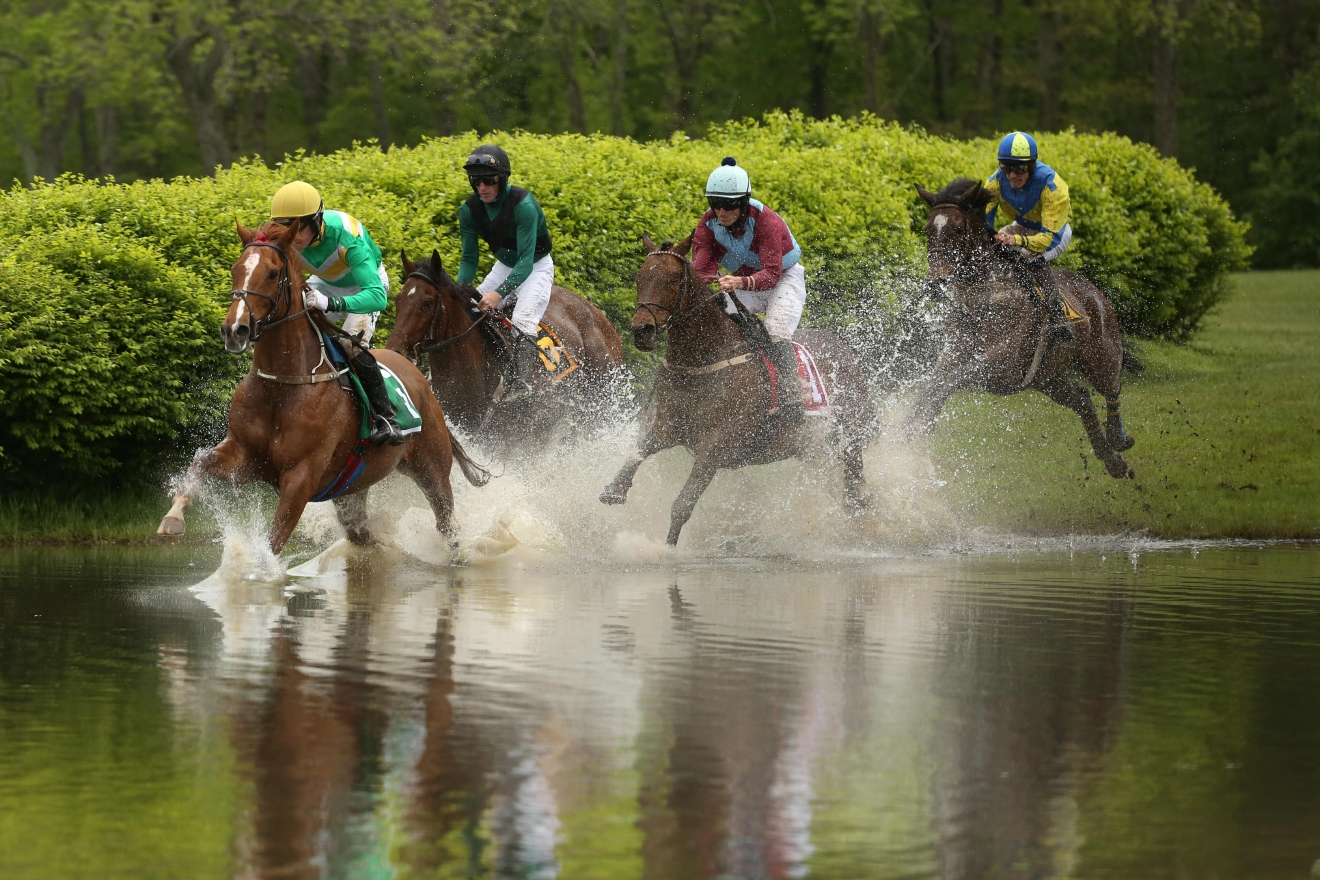 The races, which were held in The Plains, Virginia, also had a water feature.  (Amanda Andrade-Rhoades/DC Refined)