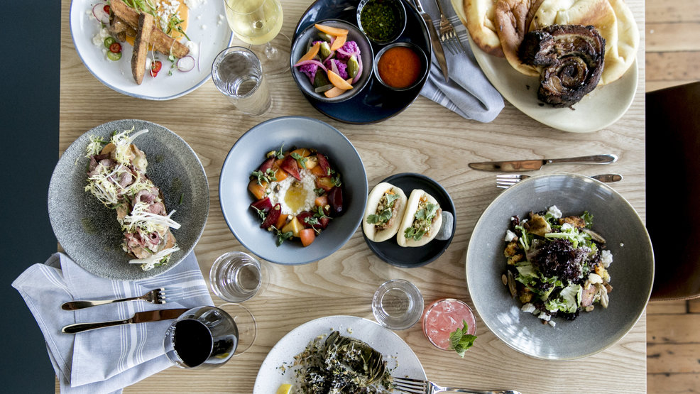 The menu at Sawyer in Ballard{ } is playful and approachable. Everything is, fittingly, served family-style. (Image: Brooke Fitts)