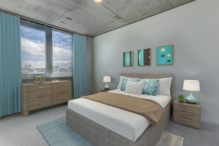 The Danforth bedrooms offer a stylish retreat with stunning views.