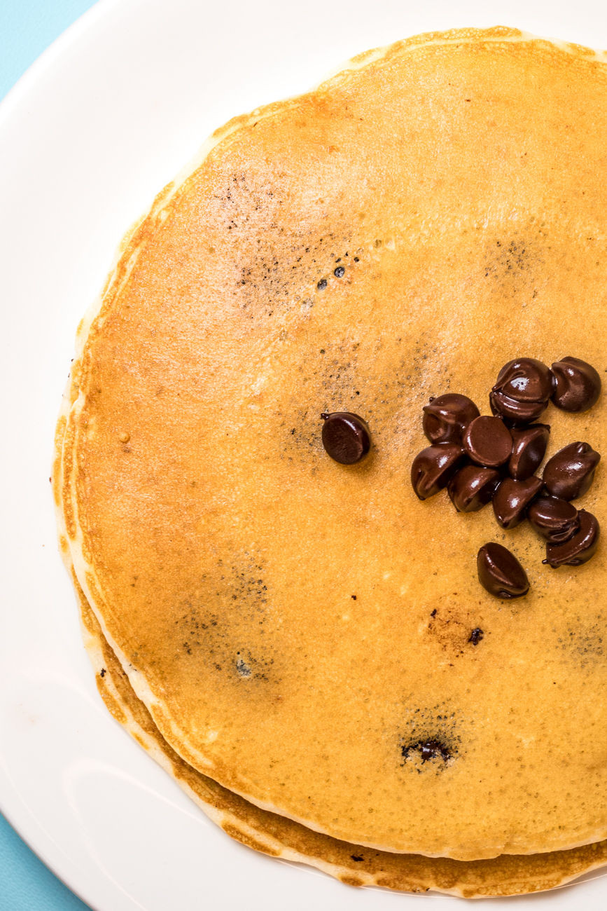 Chocolate chip pancakes / Image: Catherine Viox{ }// Published: 7.31.20