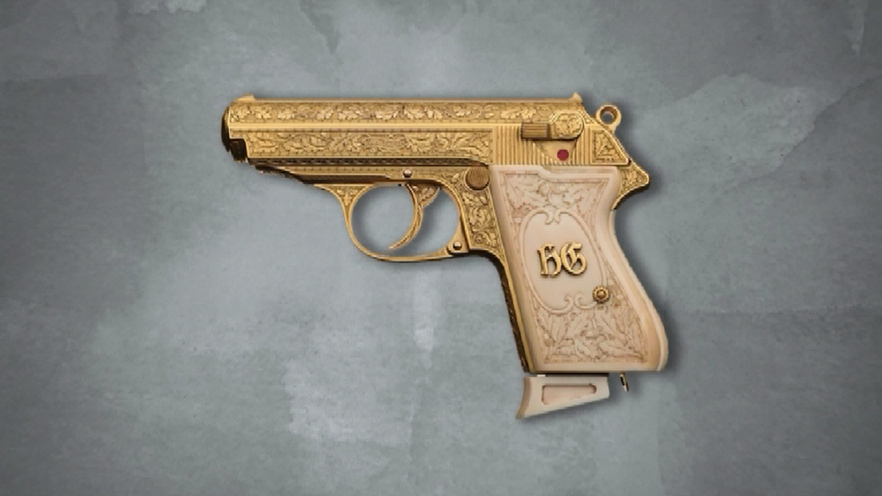 Golden gun owned by Nazi leader up for auction | WJLA