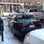 Ice falls off roof, smashes car in Portland's Old Port