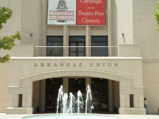 The Arkansas Union is home for more than 25 different departments, restaurants, and retail stores, including the popular Razorback Shop.