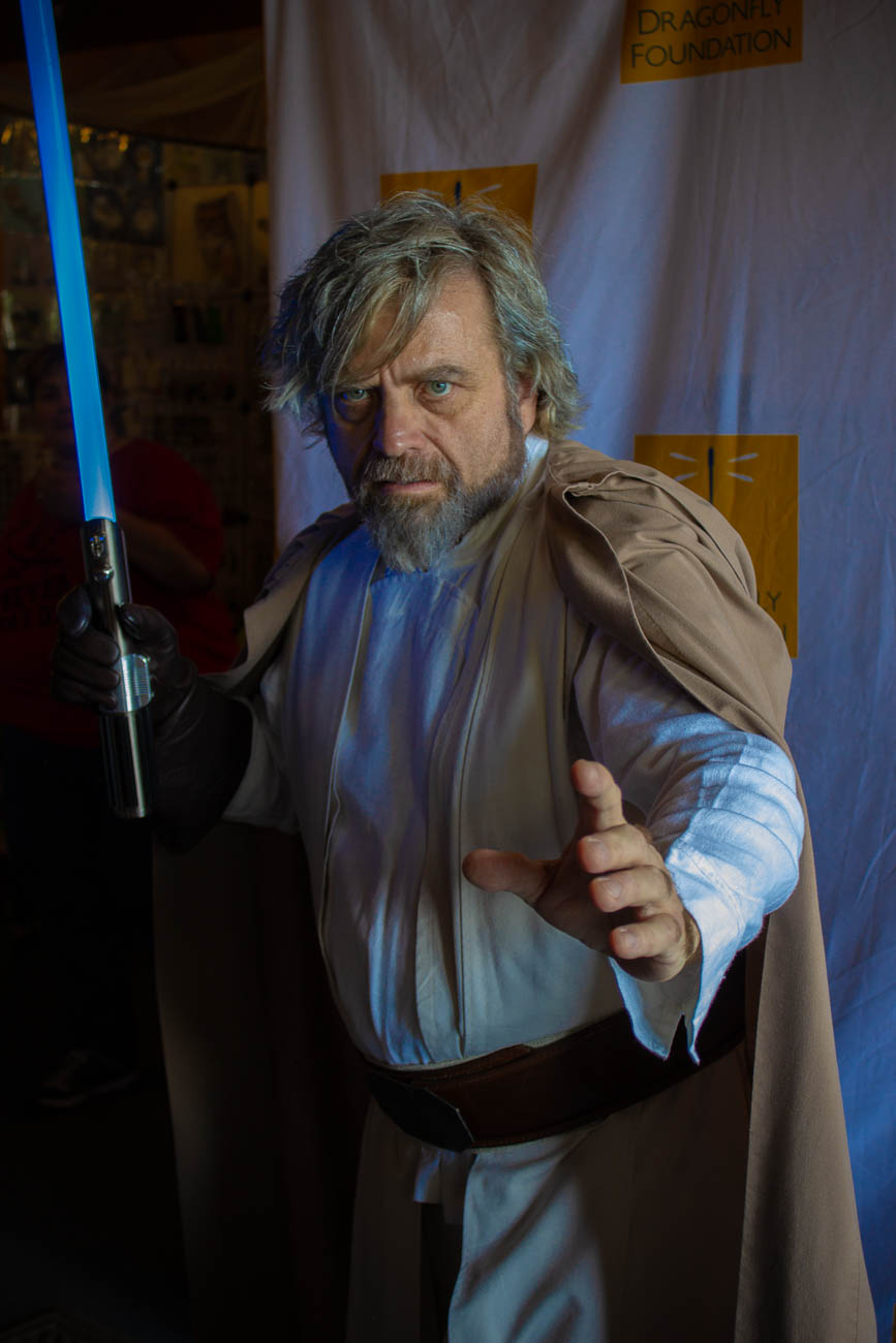 Fluke Skywalker was in attendance to take photographs with fans in support of the Dragonfly Foundation nonprofit. / Image: Katie Robinson, Cincinnati Refined // Published: 5.19.19