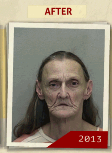This 2013 photo taken of the same woman  who reportedly had a 'possession of Methamphetamine' charge. (Photo, info from rehabs.com/)