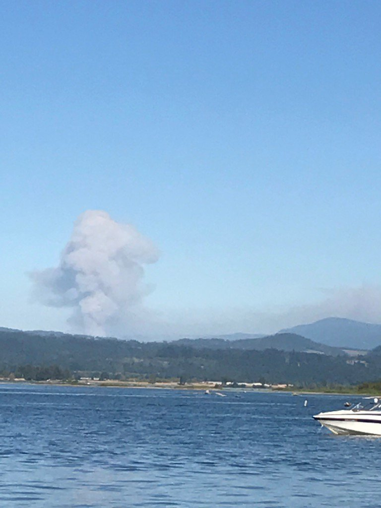 Fire ravages Eagle Creek area in the Columbia River Gorge