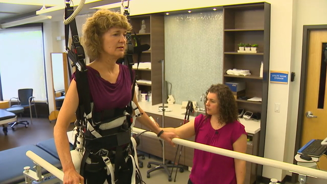 Robotic legs help patients learn to walk again