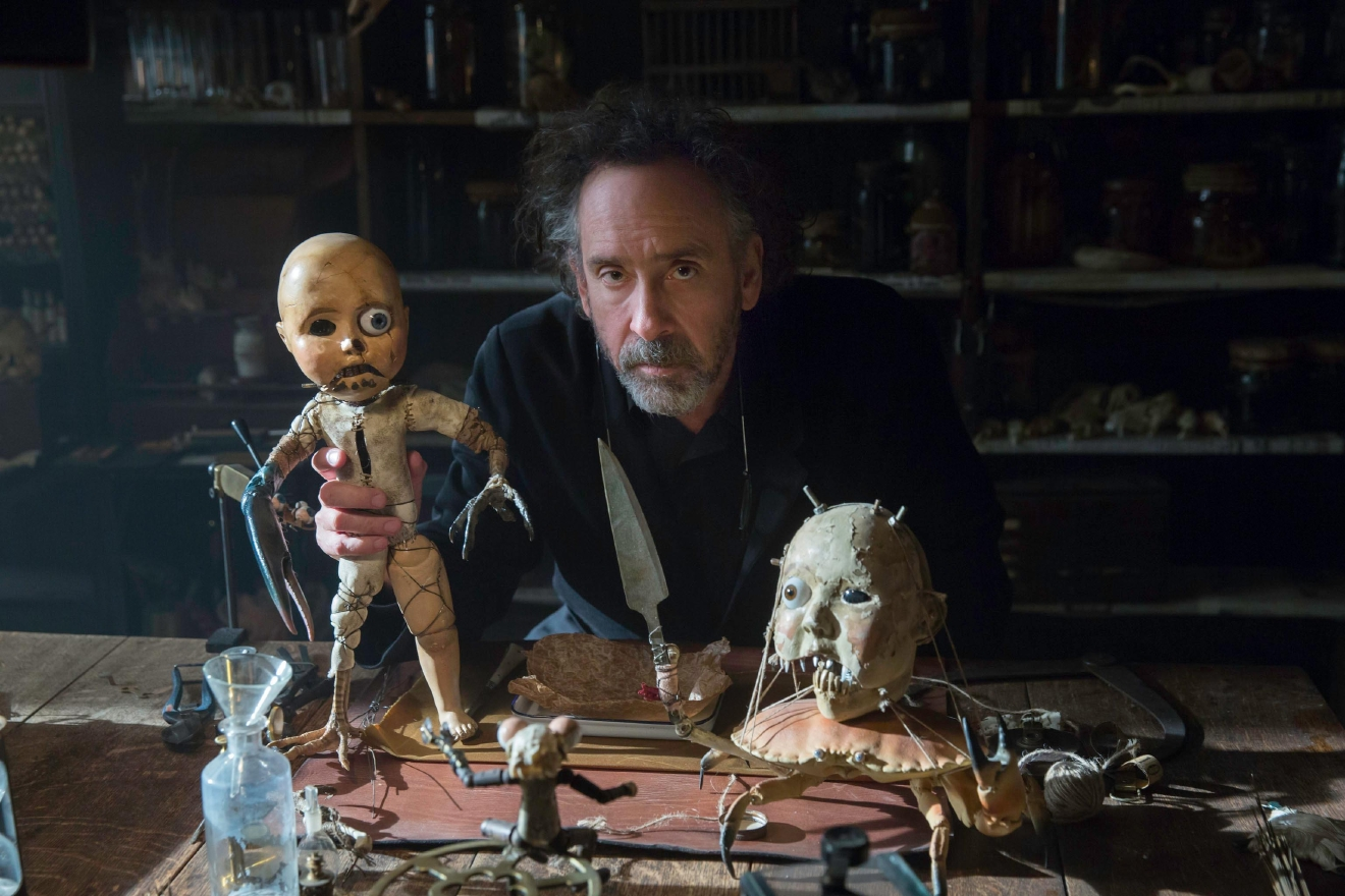 "Director Tim Burton on the set of ""Miss Peregrine's Home for Peculiar Children."" Photo Credit: Leah Gallo."
