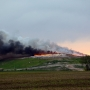 Downwind residents asked to shelter in place as massive landfill fire burns in Elkhart Co.