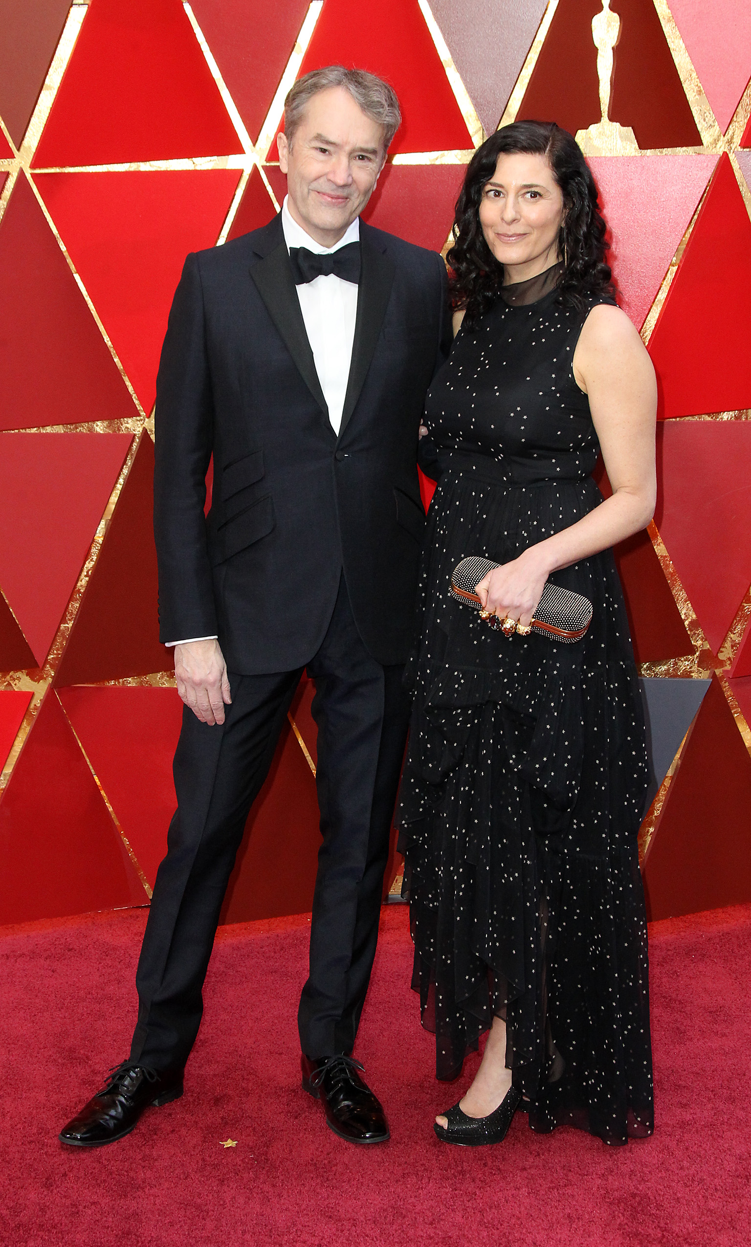 Carter Burwell and Christine Sciulli{&amp;nbsp;}arrive at the 90th Annual Academy Awards (Oscars) held at the Dolby Theater in Hollywood, California. (Image: Adriana M. Barraza/WENN.com)<p></p>