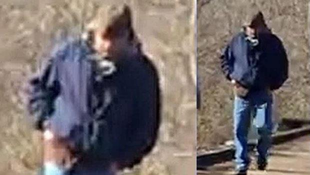 On Wednesday, police released two photos of a man walking along the city of Delphi's trail system around the time the girls were dropped off // Photo provided by police