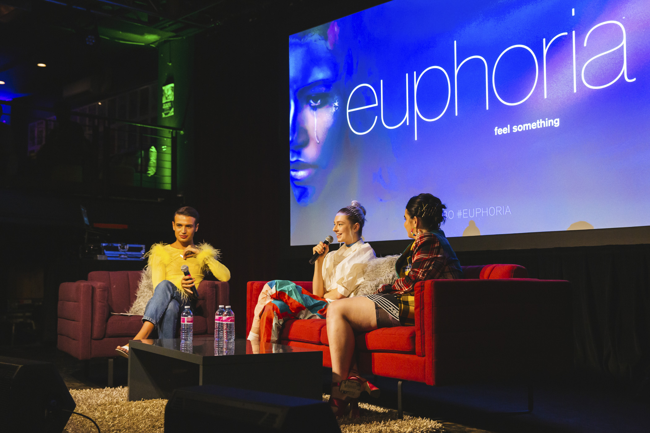 "Hunter Schafer and Barbie Ferreira attended a pop-up in Capitol Hill spotlighting their HBO drama series, ""Euphoria""! The young stars made an appearance at The Phluid Project, the world's first gender-free retail brand who partnered with HBO for the event. Following the pop-up, Shafer and Ferreira attended a screening of Euphoria's fourth episode, followed by a discussion with The Phluid Project's Preston Souza.{ }EUPHORIA follows a group of high-school students as they navigate a minefield of drugs, sex, identity, trauma, social media, love and friendship. Multimedia superstar Zendaya heads the ensemble cast. (Image: Sunita Martini / Seattle Refined)."