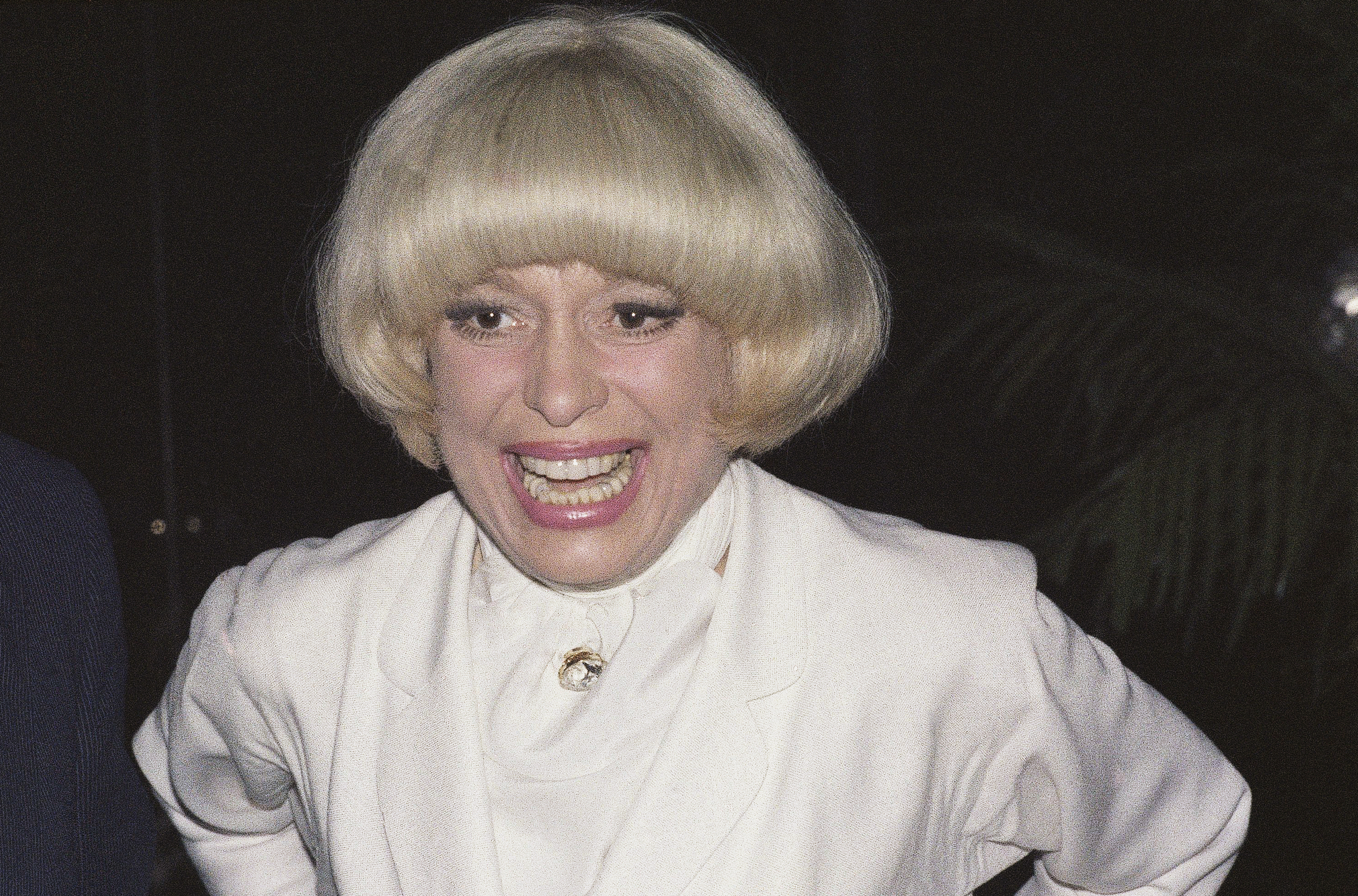 FILE - This  June 19, 1978 file photo shows actress Carol Channing in New York.  Channing, whose career spanned decades on Broadway and on television has died at age 97. Publicist B. Harlan Boll says Channing died of natural causes early Tuesday, Jan. 15, 2019 in Rancho Mirage, Calif.  (AP Photo/G. Paul Burnett, File )