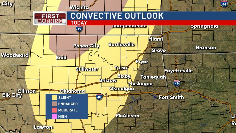 Severe storm chances for parts of Oklahoma Tuesday