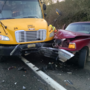 Sheriff: Driver loses control on icy road, hits school bus full of kids head-on