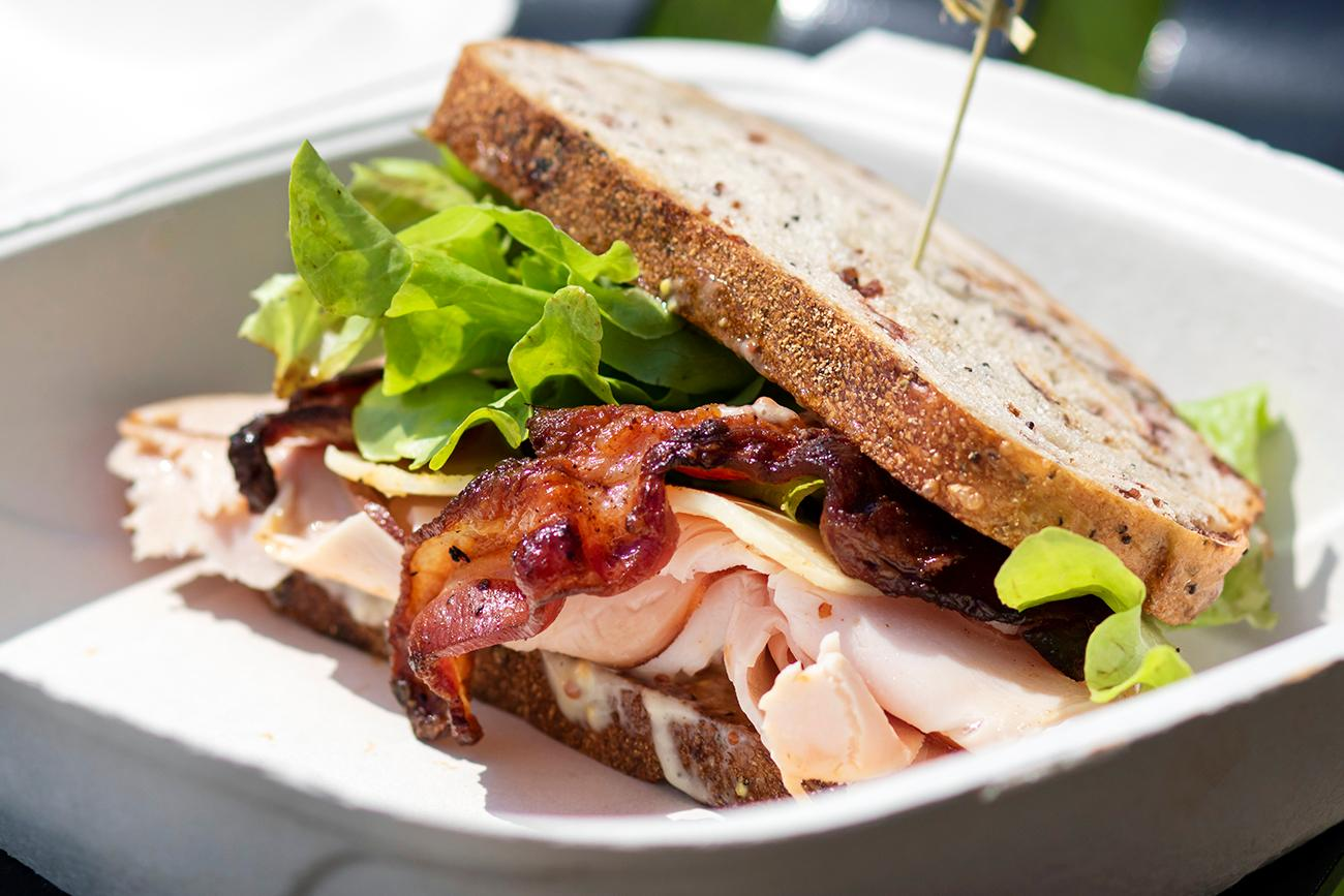 Gobbler: smoked turkey, bacon, white cheddar, and greens with lemon aioli / Image: Allison McAdams{ }// Published: 8.12.19