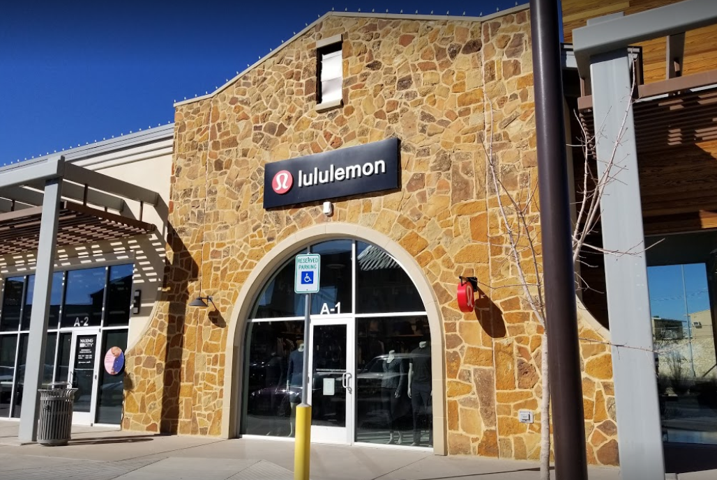 Lululemon has one location in El Paso, Texas, located at{&amp;nbsp;}6801 North Mesa St (near Whole Foods Market). The company is a high-end yoga-focused chain featuring stylish athletic wear and accessories (most offer free classes). (Photo courtesy: John R. Yelp)<p></p>